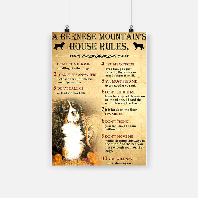 A bernese mountain's house rules poster 3