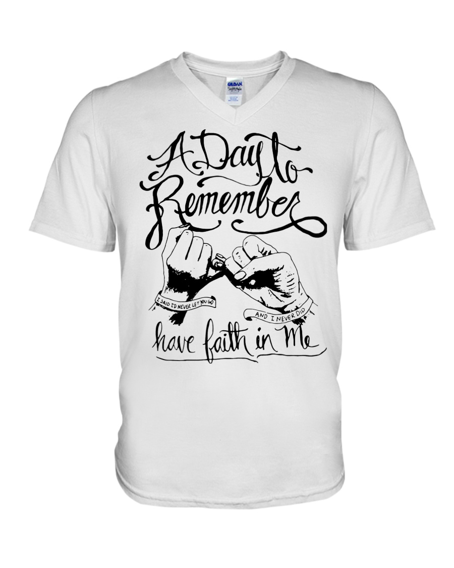A day to remember have faith in me v-neck