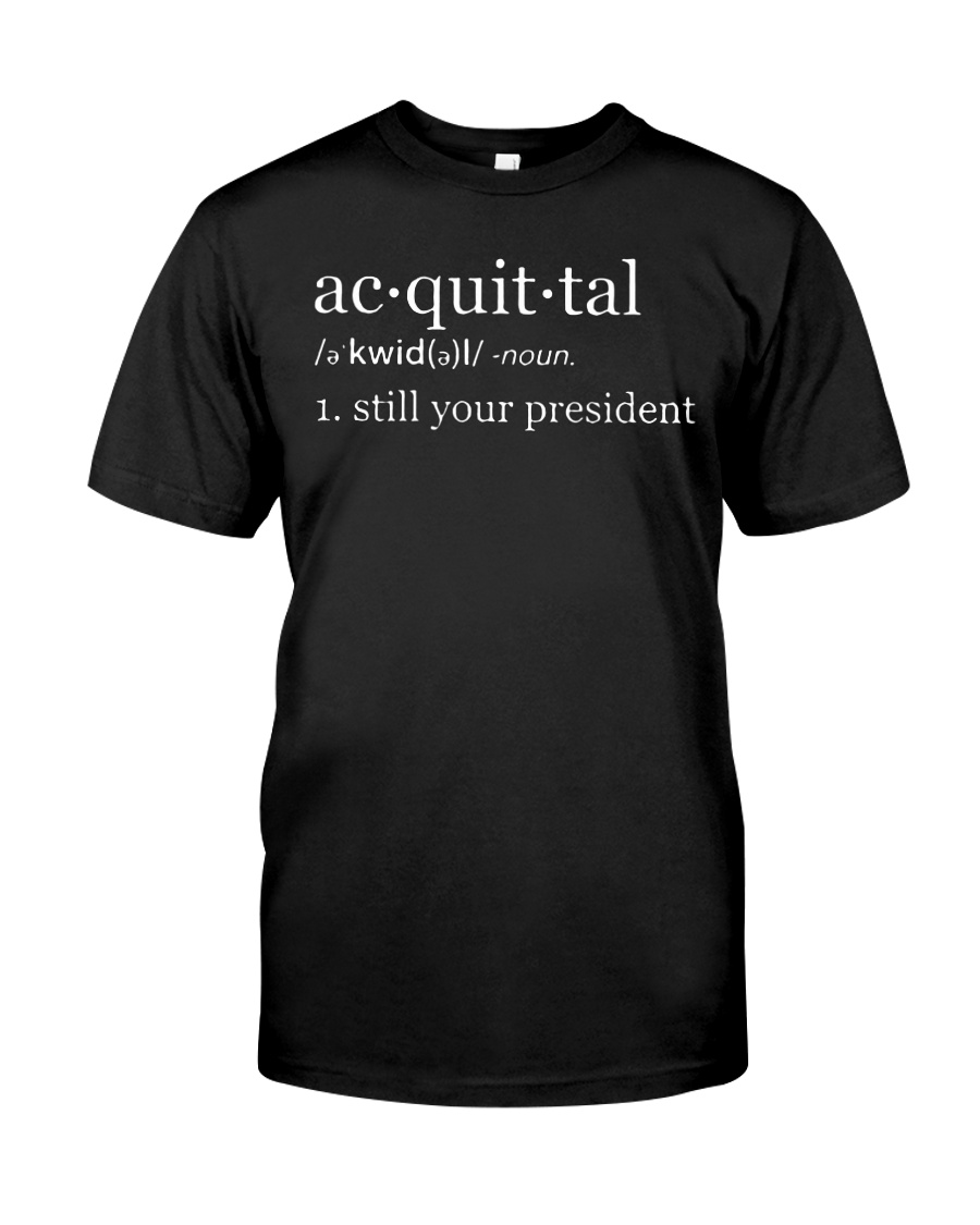 Acquittal definition guy shirt
