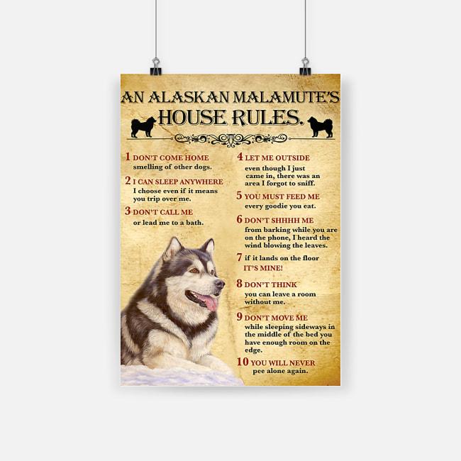 An alaskan malamute house rules poster 2