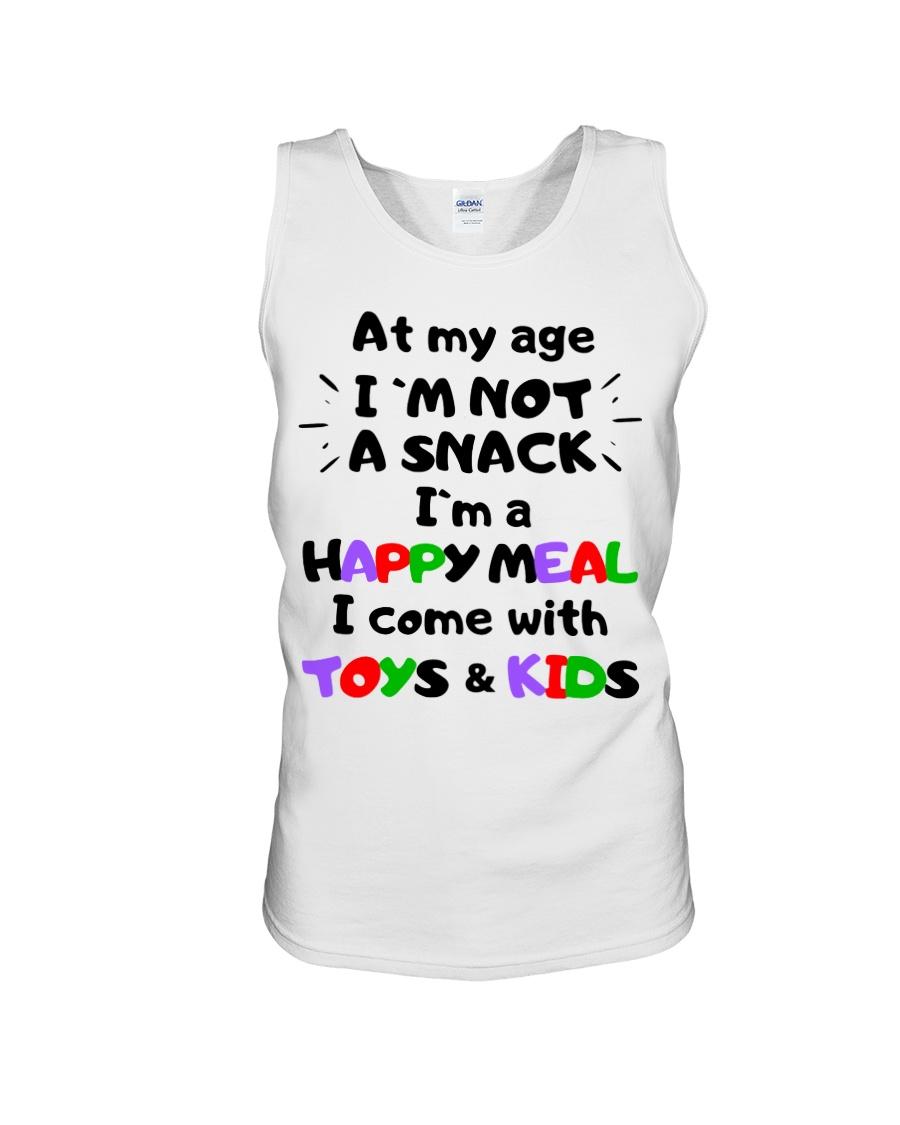 At my age i'm not a snack i'm a happy meal tank top