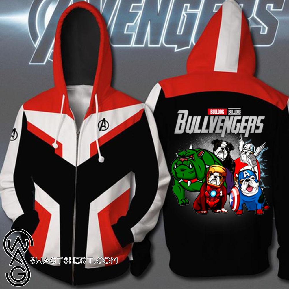 Avengers endgame bulldog bullvengers full printing shirt