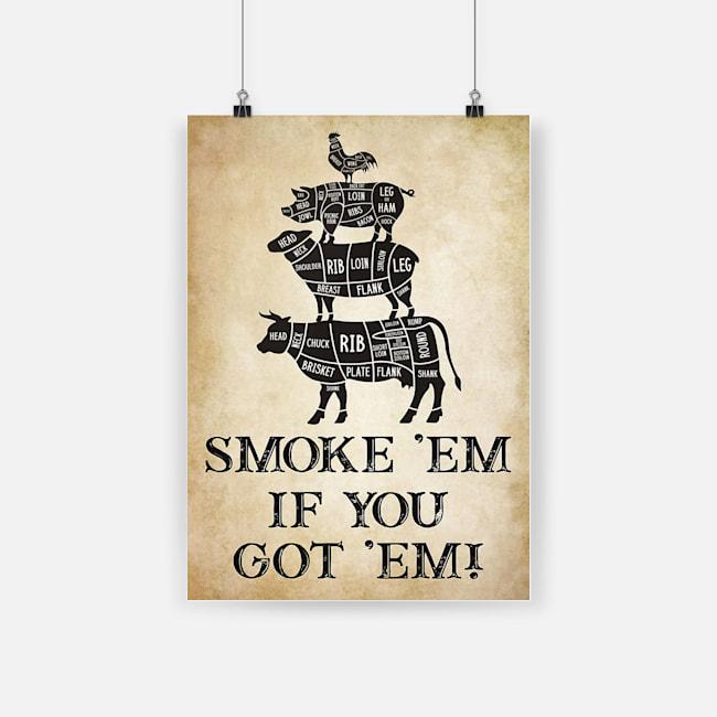 Camping smoke 'em if you got 'em poster 2
