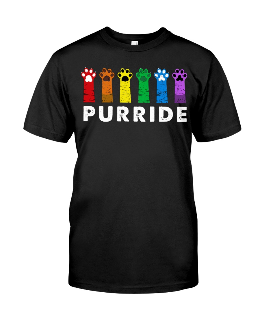 Gay pride cat lgbt purride guy shirt