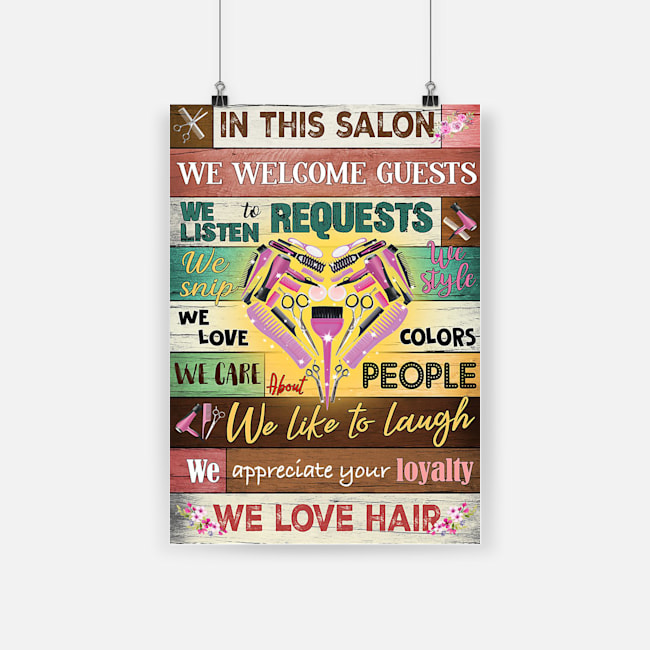 Hairdresser in this salon we love hair poster 2