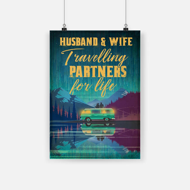 Husband and wife travel partners for life poster 2