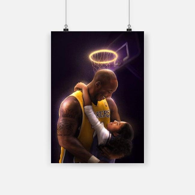 Kobe bryant and gianna bryant poster 1
