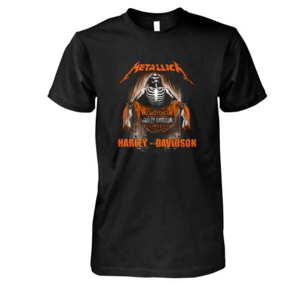 Metallica harley-davidson guy shirt