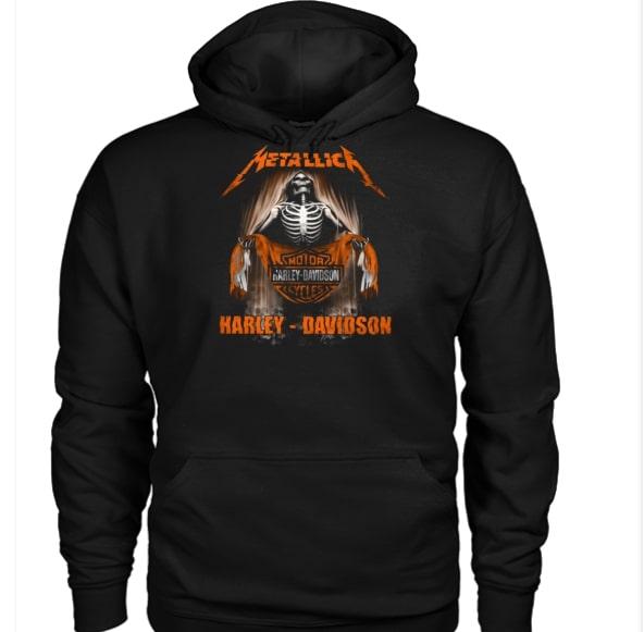 Metallica harley-davidson hoodie
