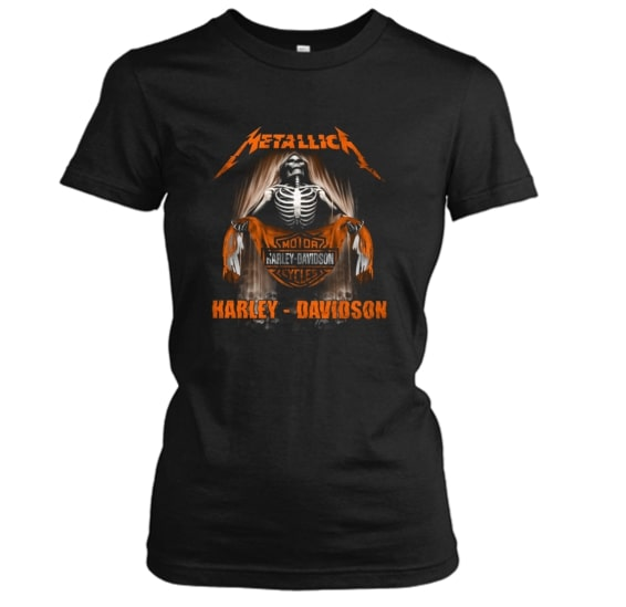 Metallica harley-davidson lady shirt