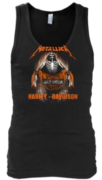 Metallica harley-davidson tank top