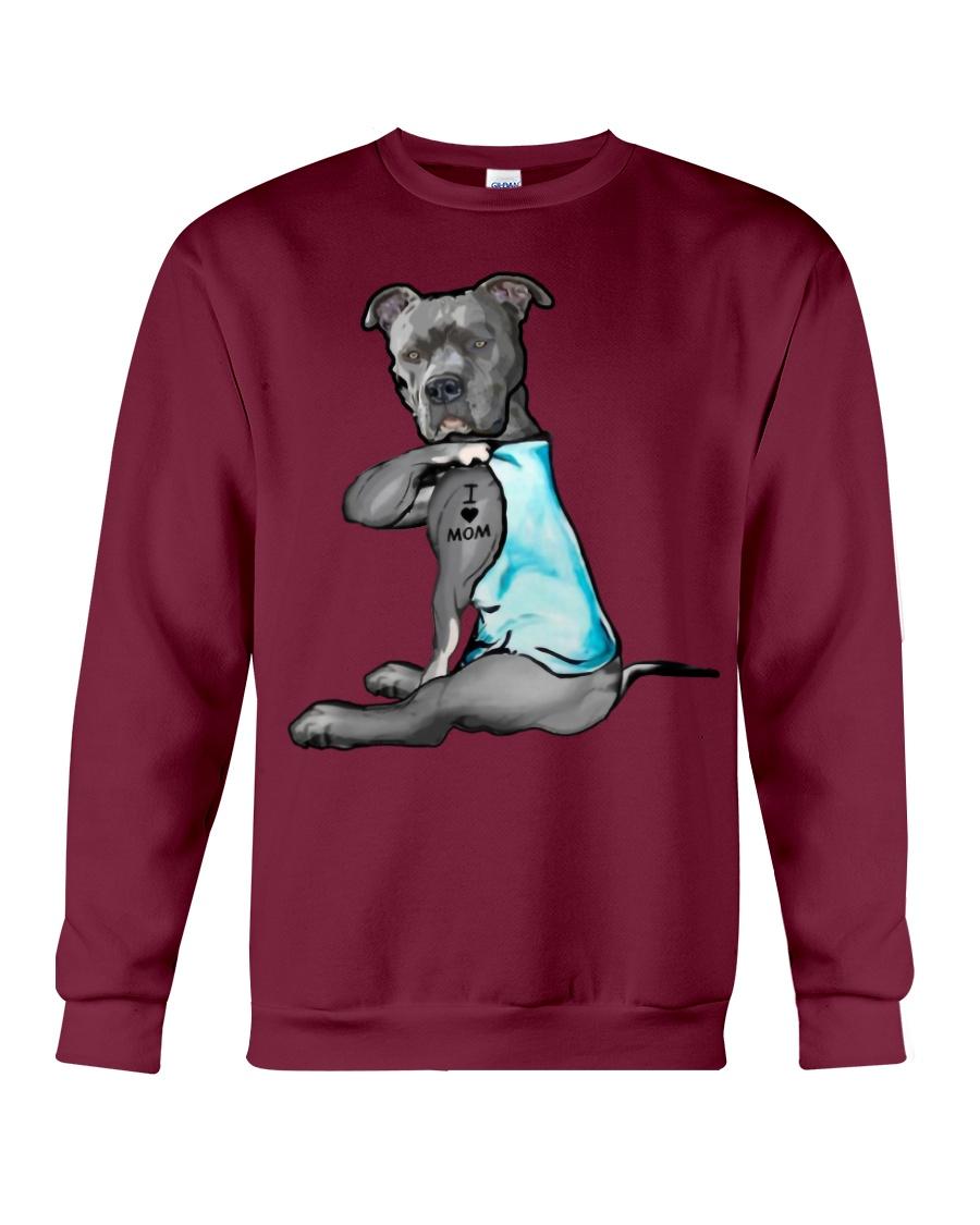 Pitbull i love mom sweatshirt