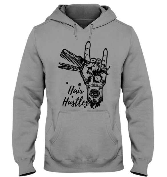 Sign language hair hustler hoodie