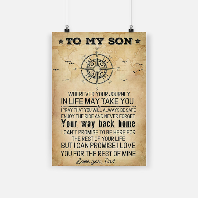 To my son wherever your journey in life may take you poster 2