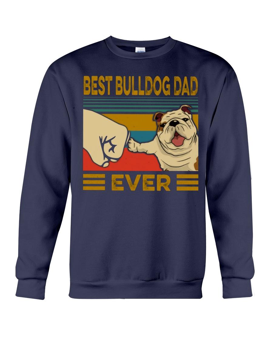 Vintage best bulldog dad ever sweatshirt