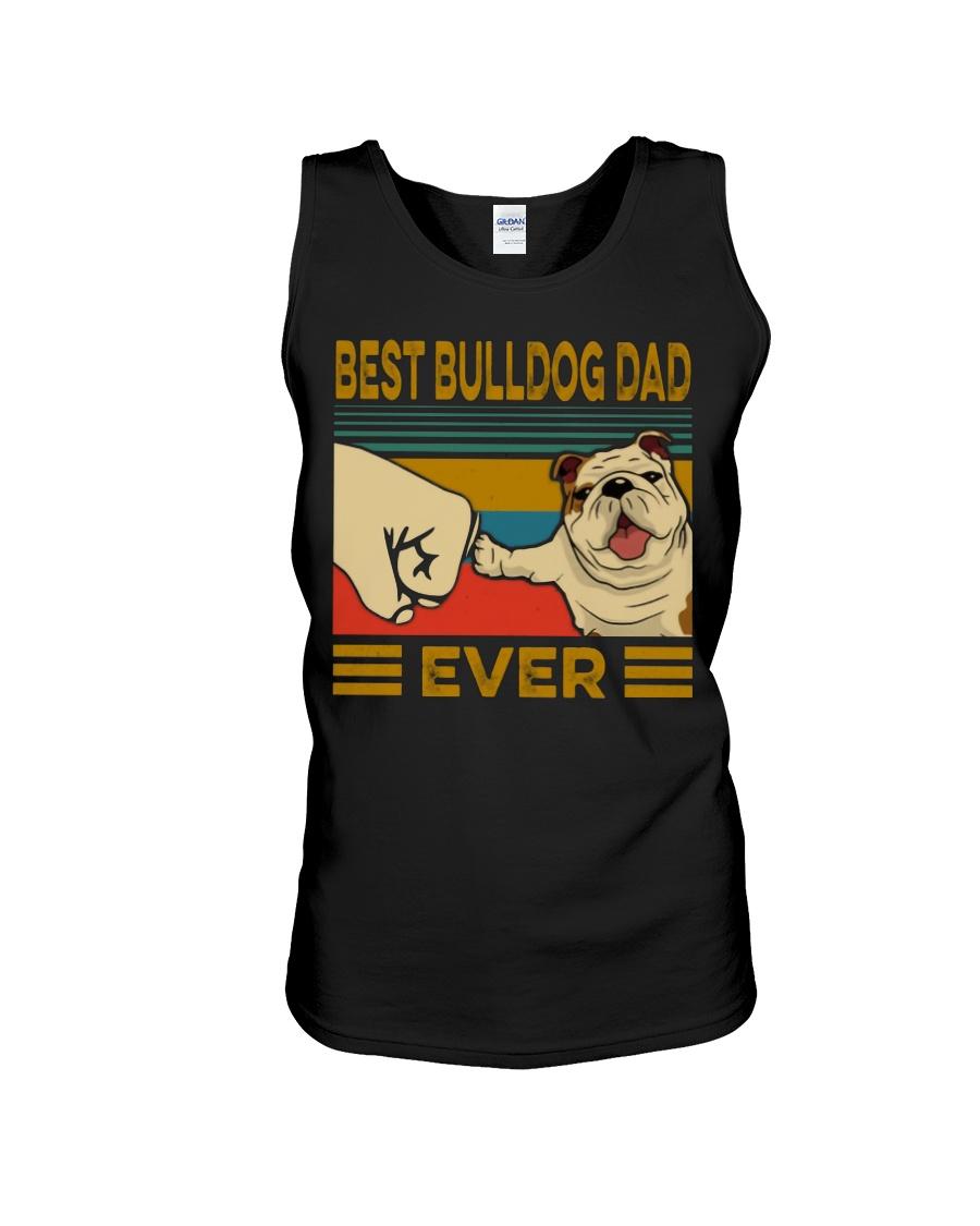 Vintage best bulldog dad ever tank top