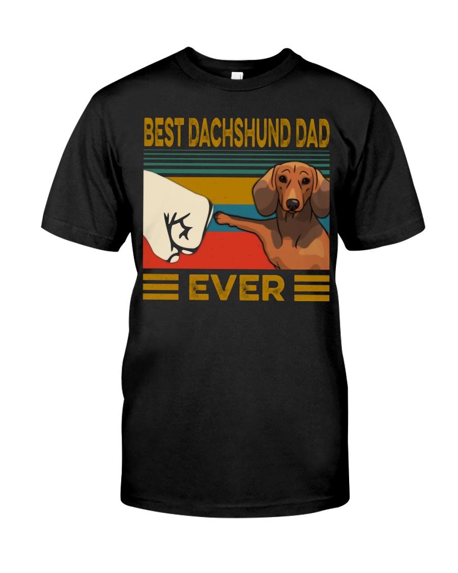 Vintage best dachshund dad ever guy shirt