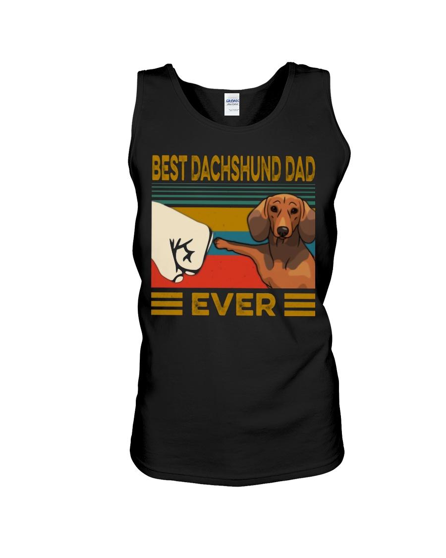 Vintage best dachshund dad ever tank top