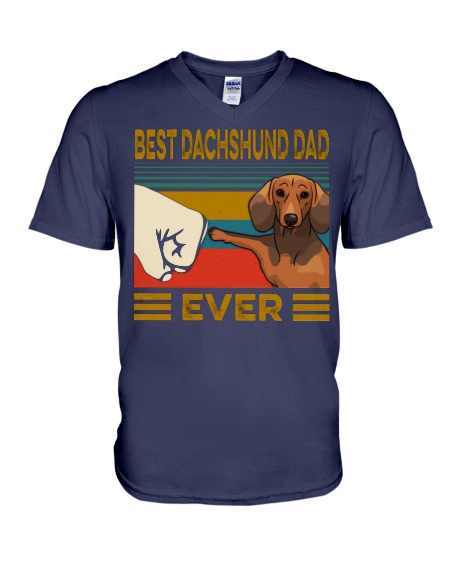 Vintage best dachshund dad ever v-neck