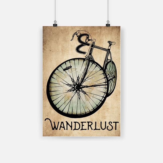 Wanderlust bicycle poster 2