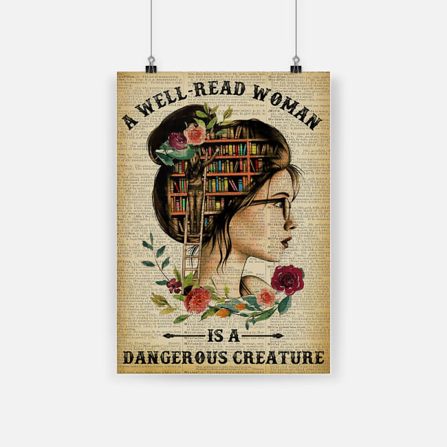 A well read woman is a dangerous creature poster 1