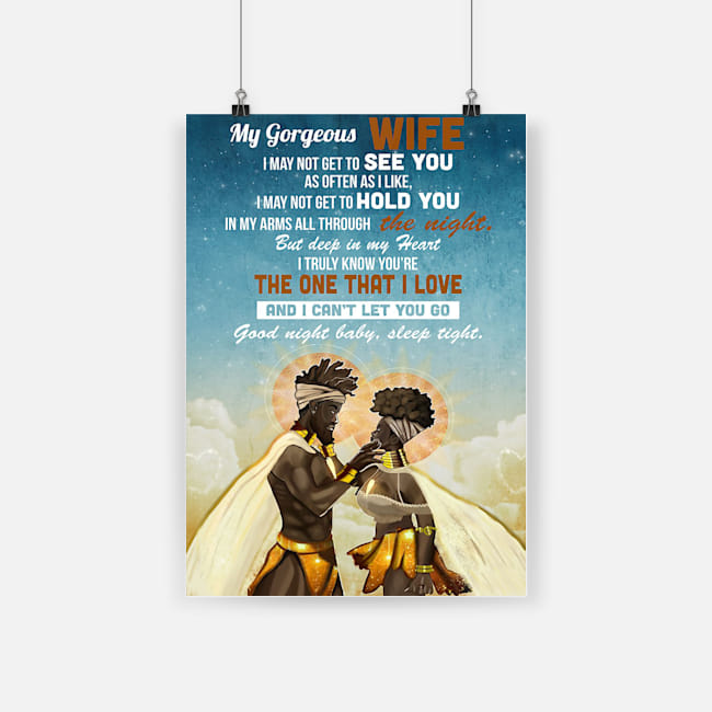 African american my gorgeous wife the one that i love poster 1