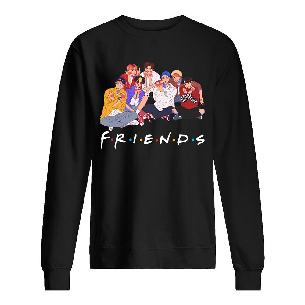 BTS friends tv show sweatshirt
