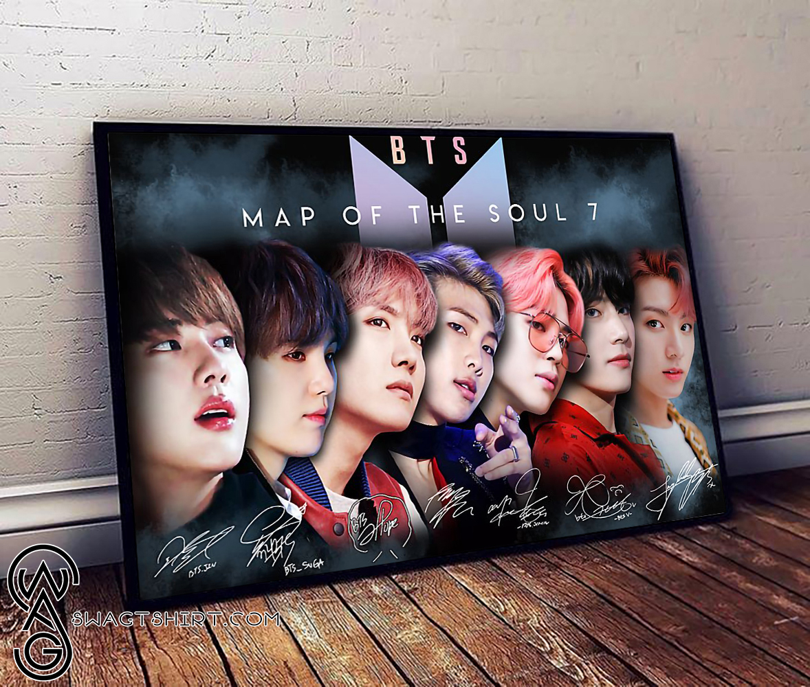 BTS map of the soul 7 poster