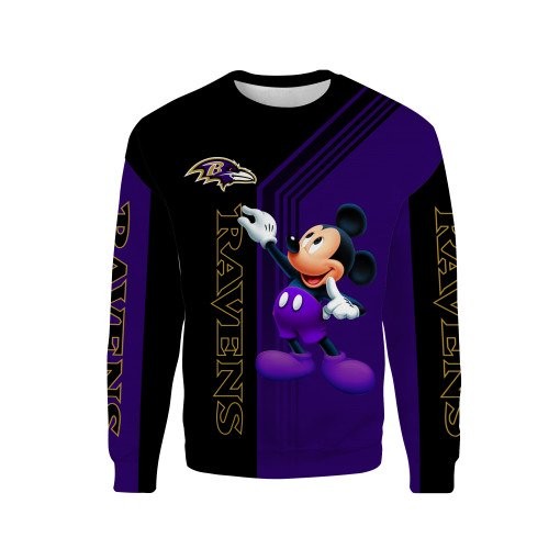 Baltimore ravens mickey mouse all over print sweatshirt