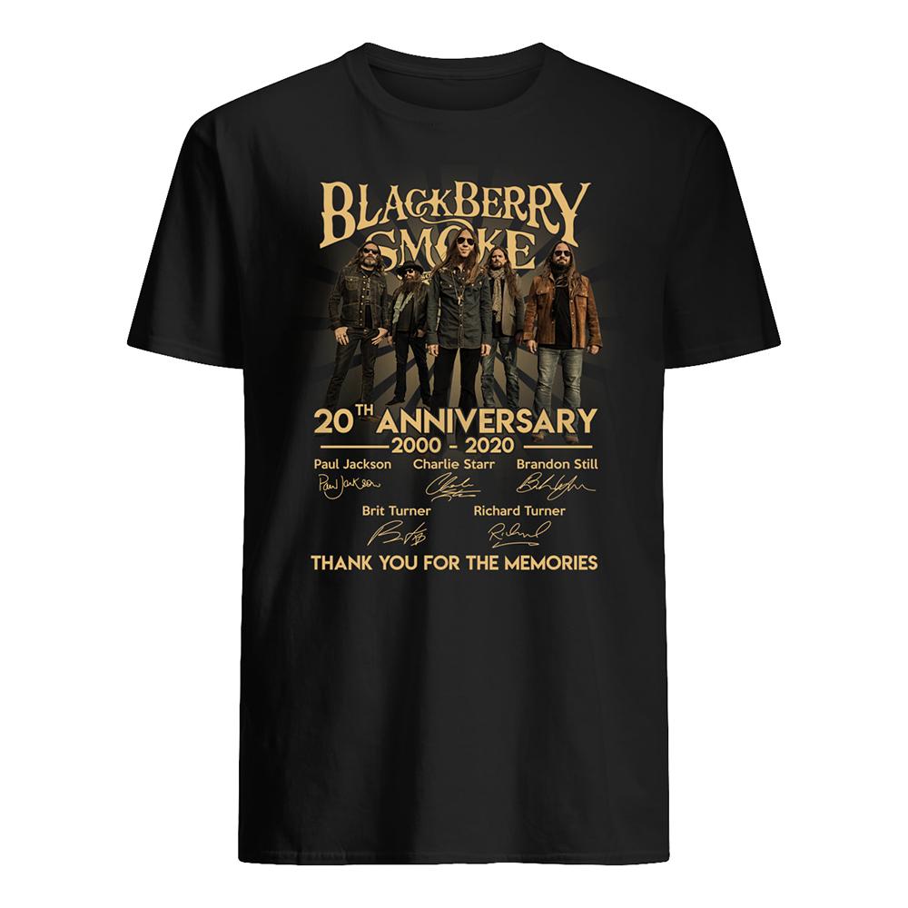 Blackberry smoke 20th anniversary 2000-2020 signatures mens shirt