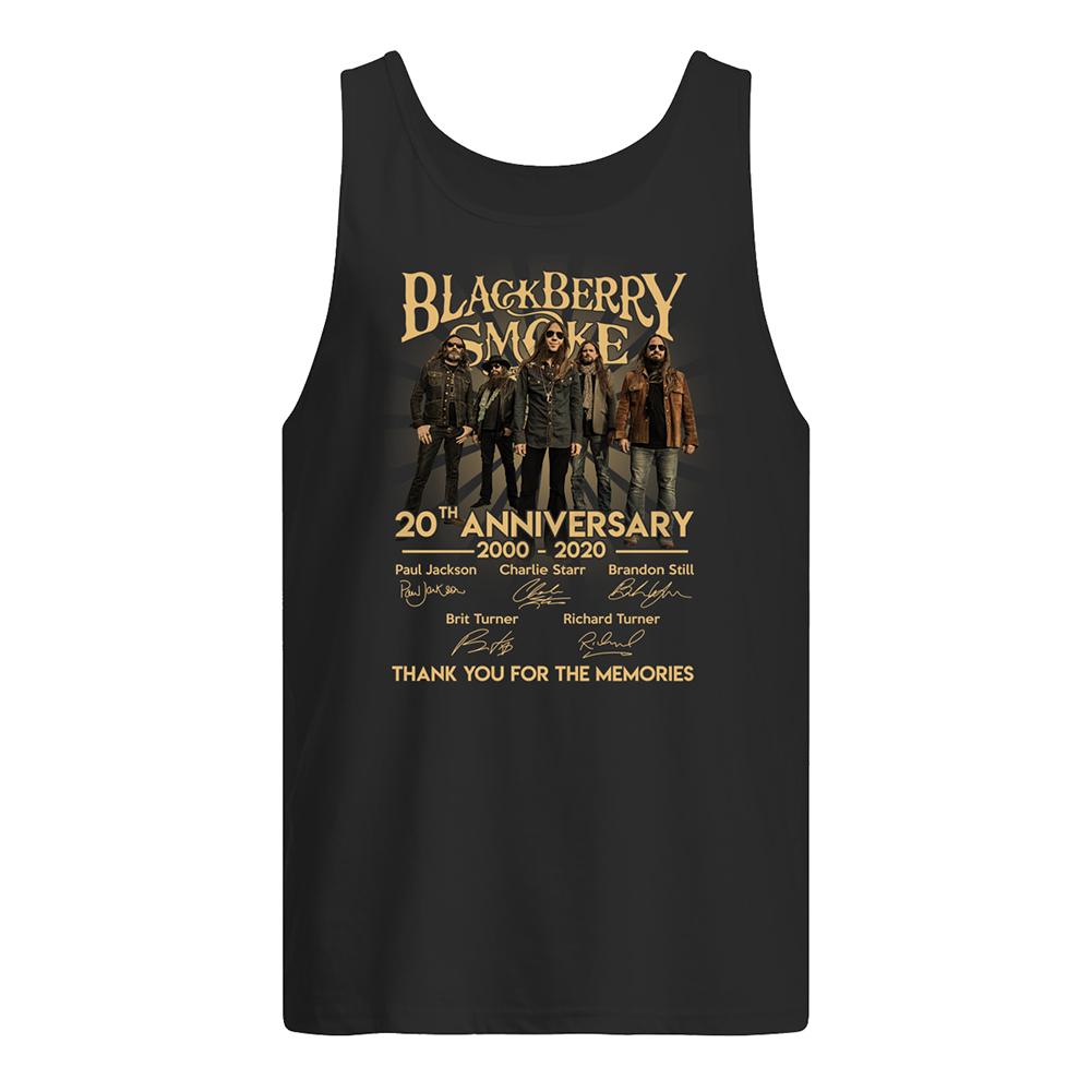 Blackberry smoke 20th anniversary 2000-2020 signatures tank top