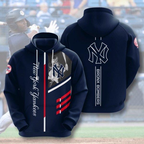 Bronx bombers new york yankees full printing hoodie 2