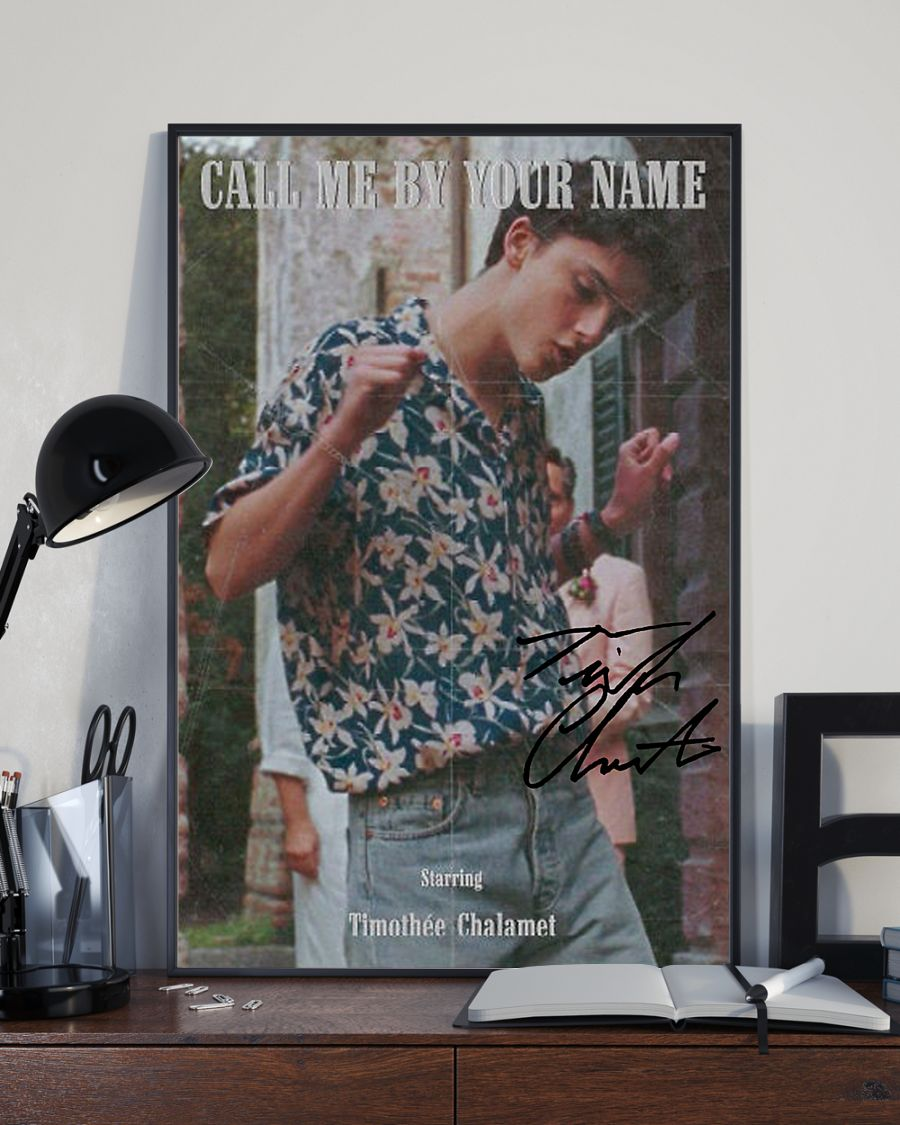 Call me by your name timothee chalamet poster 1