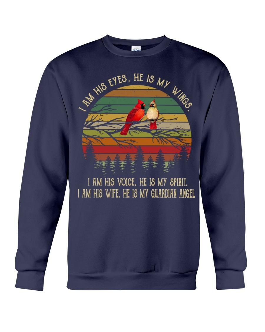 Cardinal bird i am his eyes he is my wings sweatshirt