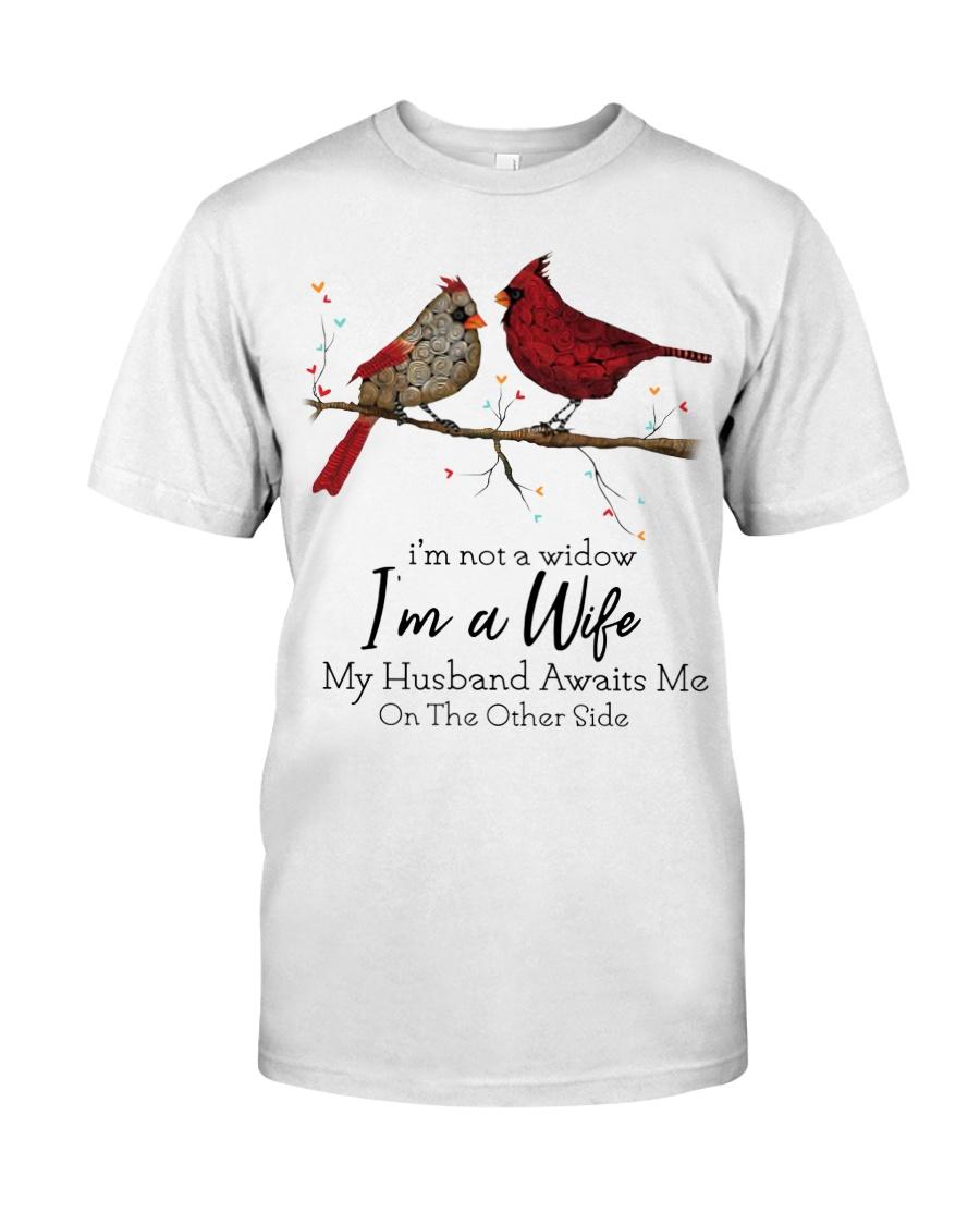 Cardinal bird i'm not a widow i'm a wife guy shirt