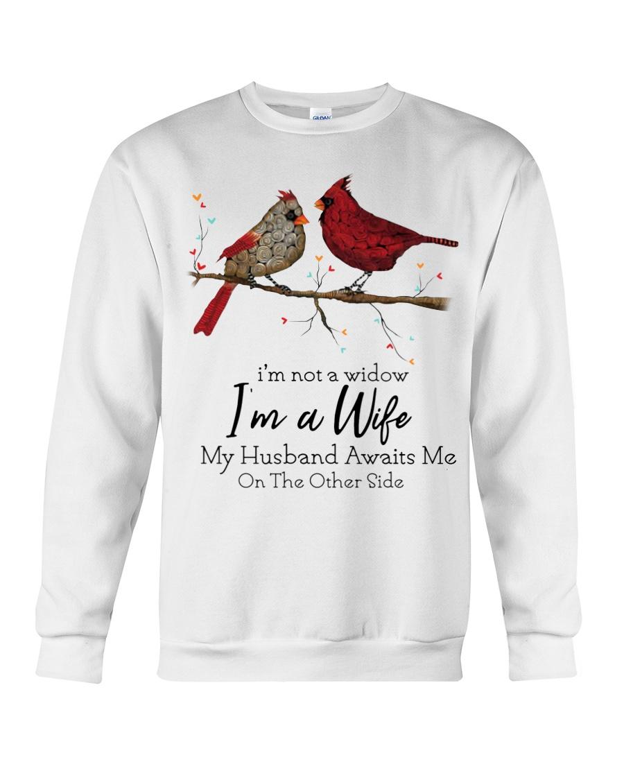 Cardinal bird i'm not a widow i'm a wife sweatshirt