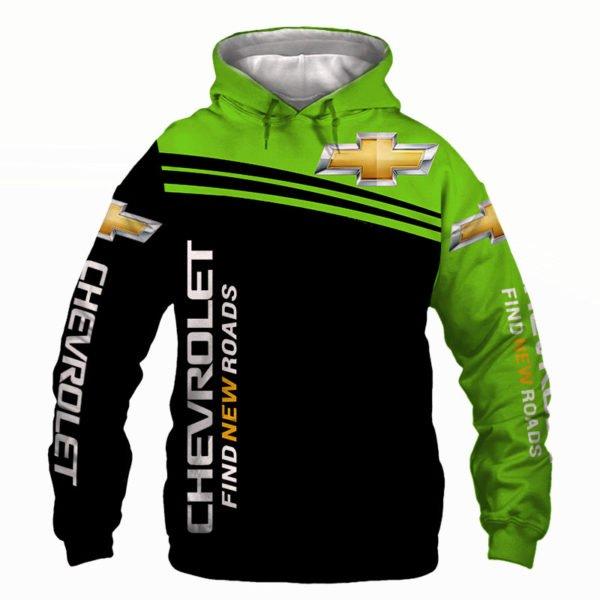 Chevrolet find new roads full printing hoodie