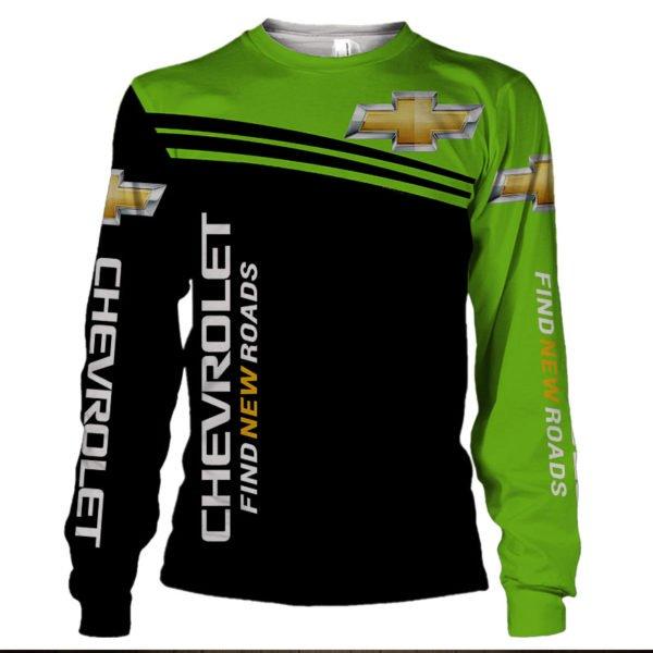Chevrolet find new roads full printing sweatshirt