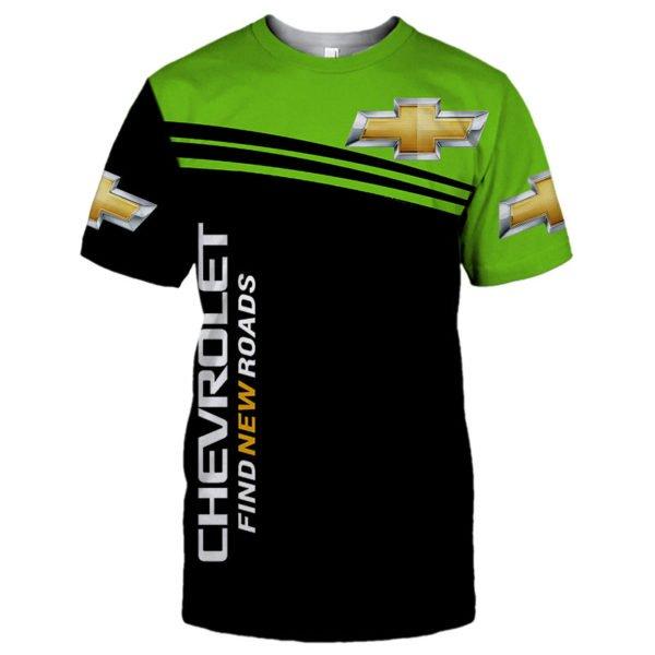 Chevrolet find new roads full printing tshirt
