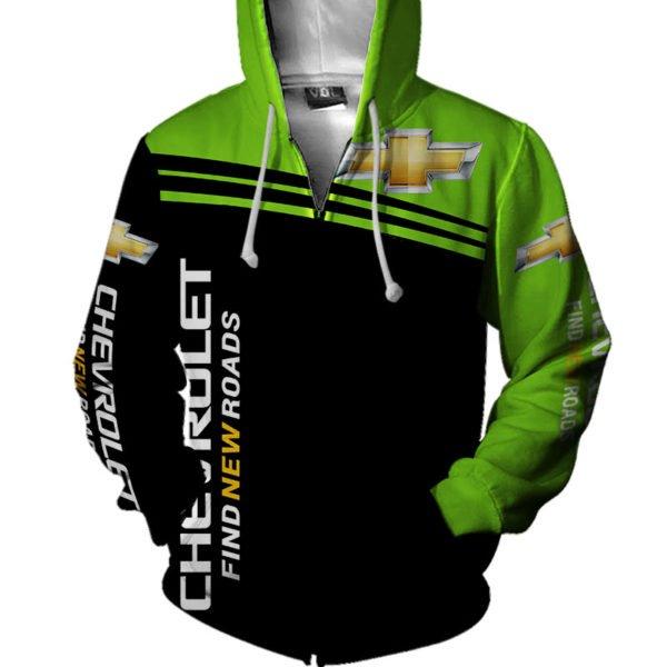 Chevrolet find new roads full printing zip hoodie
