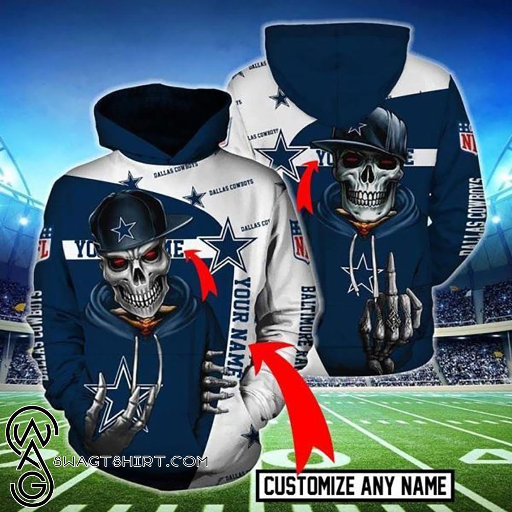 Death skull dallas cowboys all over print shirt