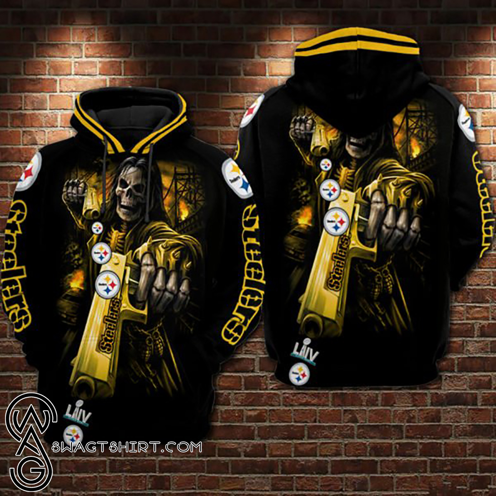 Death skull pittsburgh steelers super bowl all over print shirt