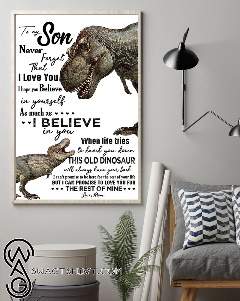 Dinosaur to my amazing son never forget how much i love you poster
