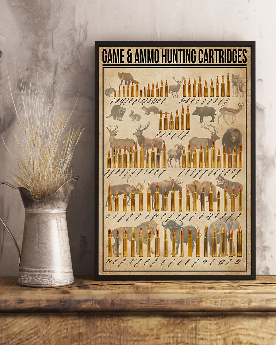 Game and ammo hunting cartridges poster 1