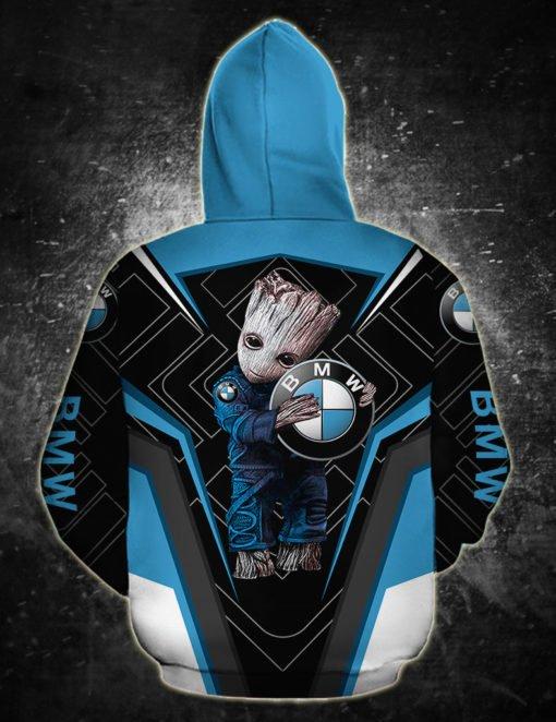 Groot and bmw logo full printing hoodie 1