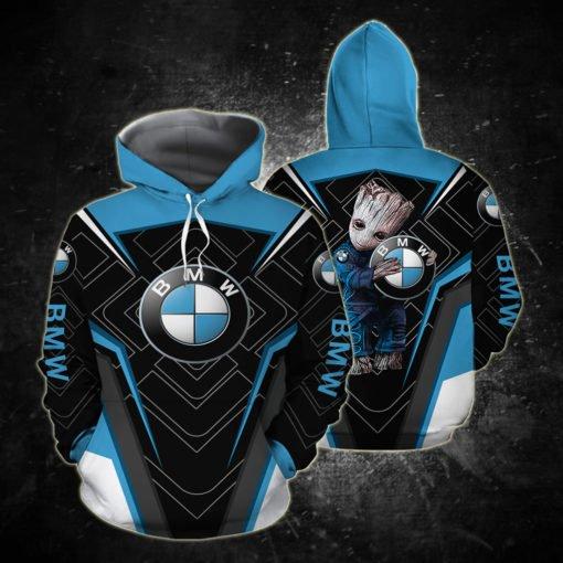 Groot and bmw logo full printing hoodie