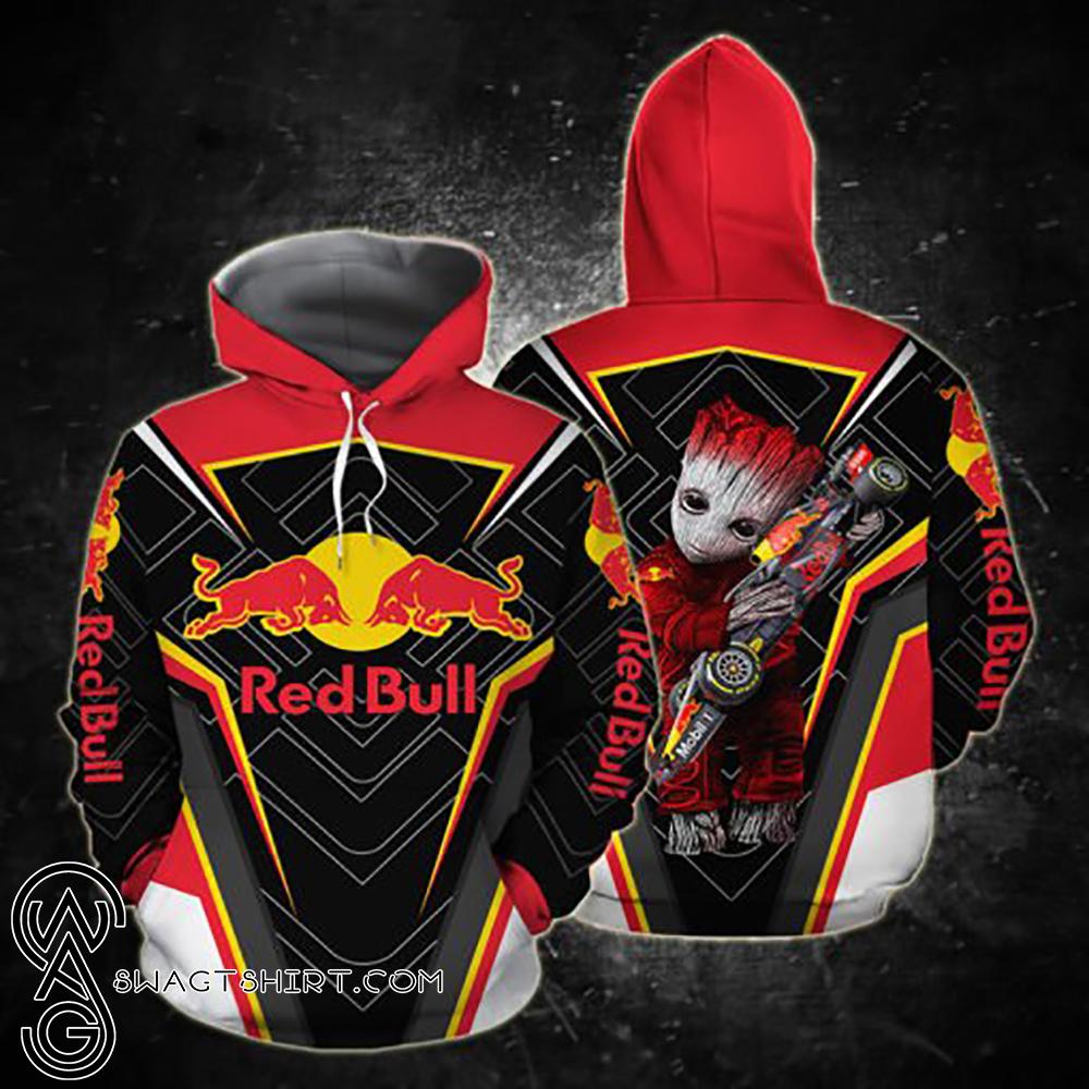 Groot and red bull racing full printing shirt