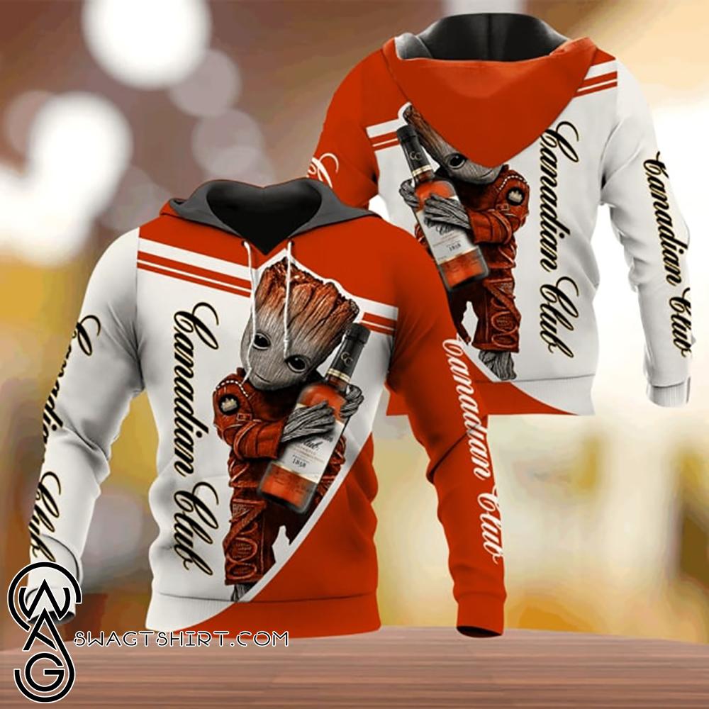 Groot hold canadian club full printing shirt