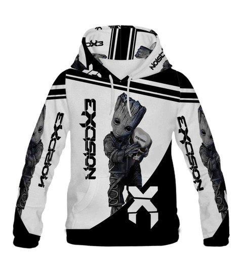 Groot hold exosion full printing hoodie