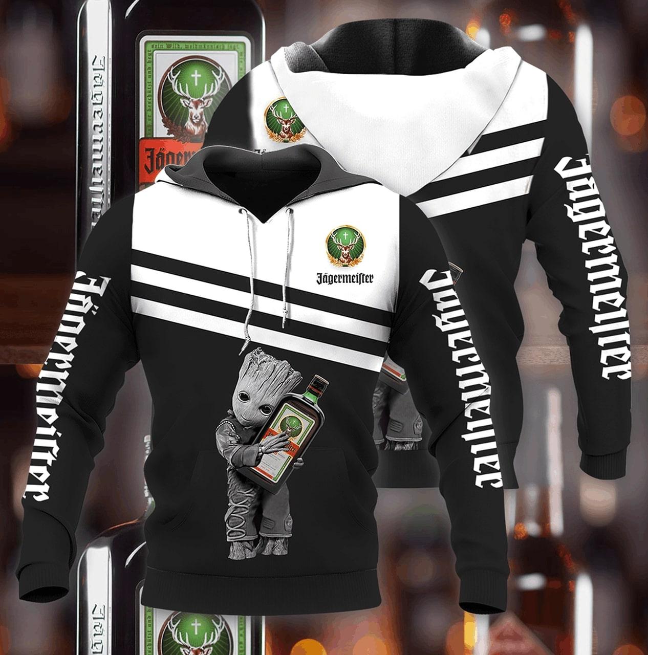 Groot hold jagermeister full printing hoodie 1